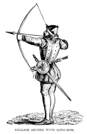 The English produced 132,000 arrows and 5,500 sheaves to outfit their longbowmen for the invasion of Normandy. The archers' performance at Crécy elevated the reputation of the English army.