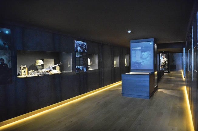 A view of one of the redesigned display galleries at the museum.