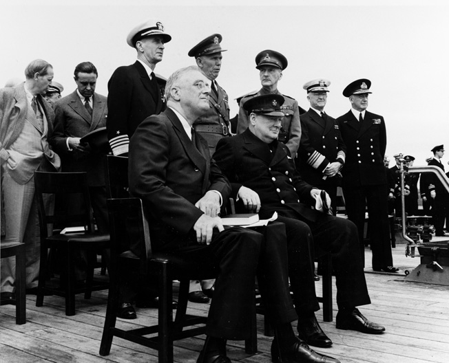 The USS Potomac carried U.S. President Franklin Roosevelt on the first leg of a voyage in which he rendezvoused at sea for a secret meeting with British Prime Minister Winston Churchill.