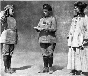 "Eyewitness accounts of this first modern case of women in combat give Botchkareva's ""girls"" mixed reviews for their performance and effect on male morale, depending on the observer's gender bias."