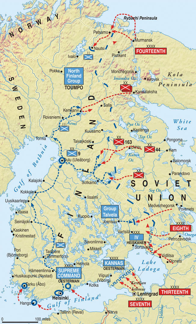 On the last day of November 1939, the Soviet Red Army invaded neighboring Finland on several fronts. The ensuing war lasted only until March 13, 1940; however, the Soviets suffered heavy casualties in achieving the military victory and the territorial concessions that followed.