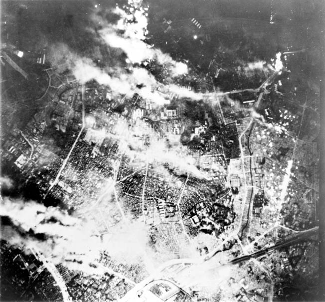 Tokyo night raid, May 26, 1945. The United States hoped that such massive destruction would compel the Japanese to surrender.