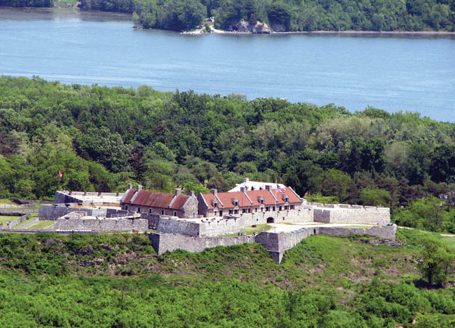 Fort Ticonderoga as it appears today with Lake Champlain in the background. The Patriots followed up their success by capturing lightly held Crown Point the following day.