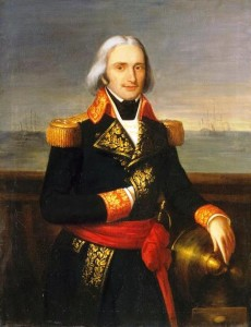 François-Paul Brueys d'Aigalliers was Admiral of Napoleon's grand fleet.