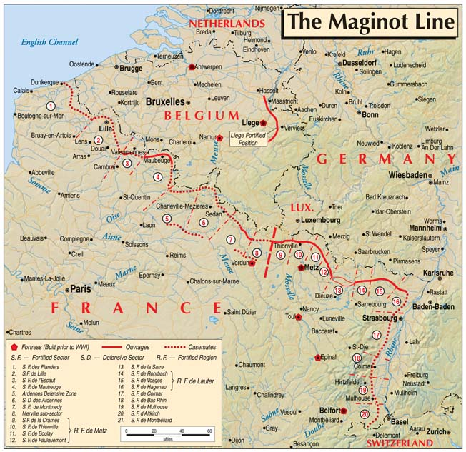 Although the Maginot Line did not prevent a German invasion, it forced Adolf Hitler's generals to rethink their plans for conquest.