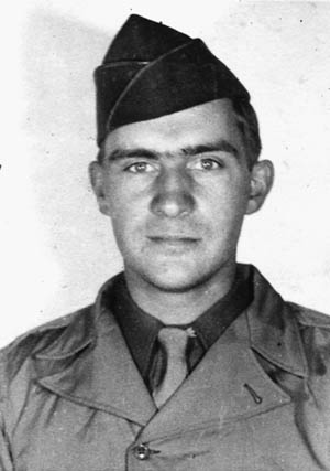 Frank Fauver, photographed in April 1944.