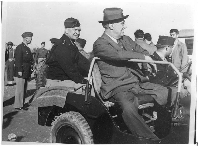 At the conclusion of the Tehran Conference, British Prime Minister Winston Churchill approved President Franklin D. Roosevelt's choice of General Dwight Eisenhower to lead the Allied invasion of Normandy in 1944. Roosevelt then flew to Tunis to inform Eisenhower of his selection.