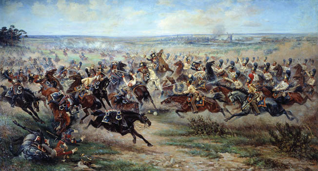 Russian Imperial Guard cavalry attacks at the Battle of Guttstadt-Deppen before Friedland. General Count Levin Bennigsen saw an opportunity to isolate and destroy Marshal Michel Ney's exposed corps, but Ney slipped through the trap.