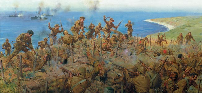 As Allied forces hunkered down on the shell-wracked beaches of the Gallipoli Peninsula, Turkish forces rallied to defend their homeland.