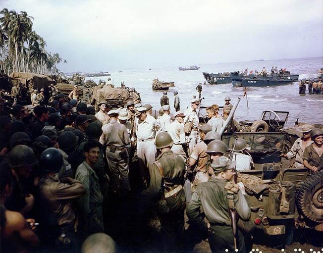 MacArthur at Leyte Gulf