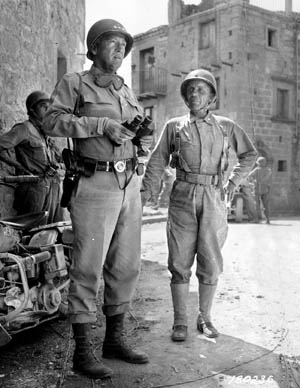 Patton meets with Roosevelt in Sicily in 1943.