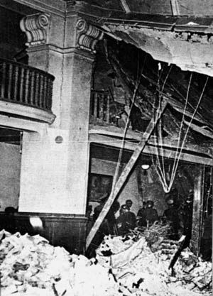 Among those emerging from the rubble covered with chalk dust was the father of Eva Braun, the Führer's mistress.