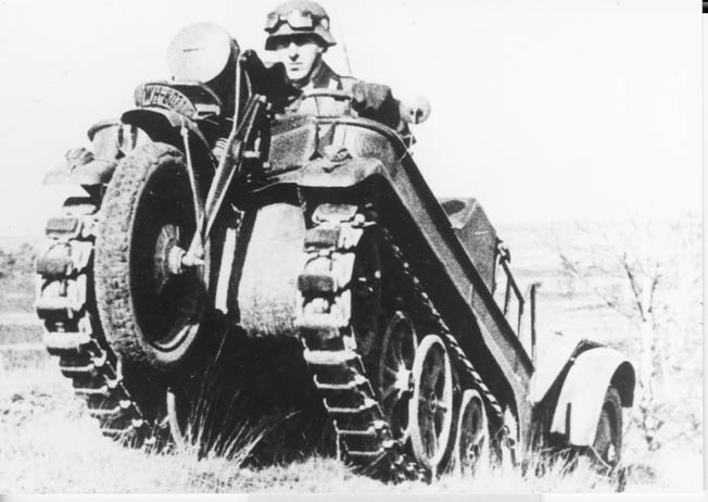 The NSU Kettenkrad served on all fronts and on all surfaces during World War II.