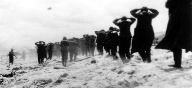 Many of the German coastal units were made up of conscripts from Nazi-conquered lands who did not wish to die for Hitler––and surrendered the first chance they had.