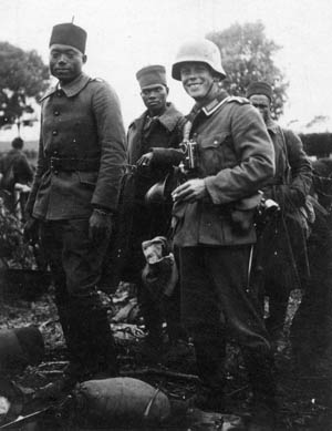 The Third Reich's treatment of black soldiers was harsh, in keeping with its doctrine of racial superiority.