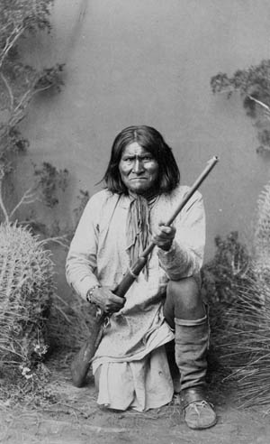 Geronimo in 1887 after his surrender.