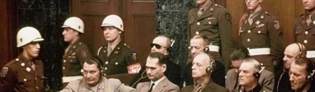 Reich Marshal Hermann Göring at the Nuremberg Trials
