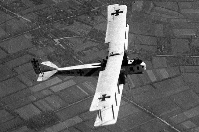 Germans flew 'Gothas,' their first strategic bombers, over England in World War I.