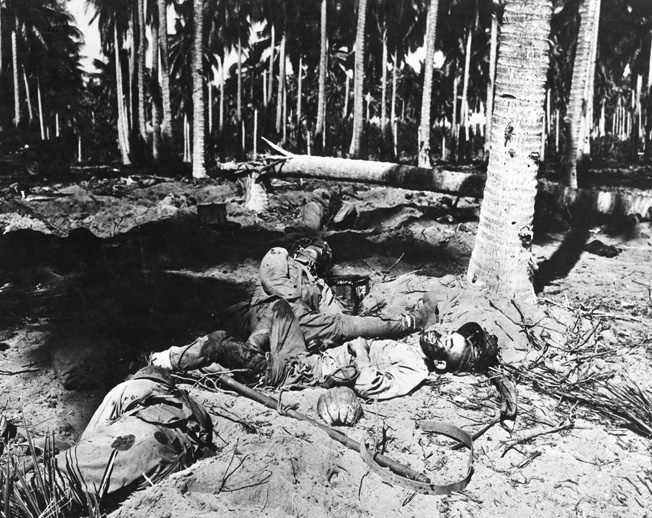 Ichiki's soldiers were slaughtered in a Banzai charge near the coconut grove during the Tenaru River battle.