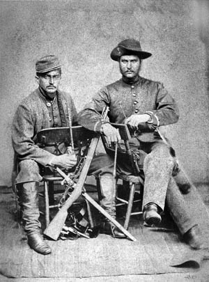 ABOVE: Brazilian officers photographed in 1868.