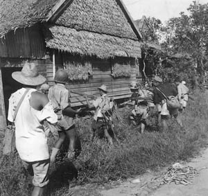 In a guerrilla war on Luzon, Americans and Filipinos fought Japanese occupiers in Philippines before the return of General MacArthur in World War II.