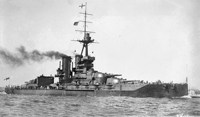 The Royal Navy's Atlantic Fleet flagship, HMS Iron Duke, may have been damaged by a U-47 torpedo; it was bombed a few days later by the Luftwaffe.