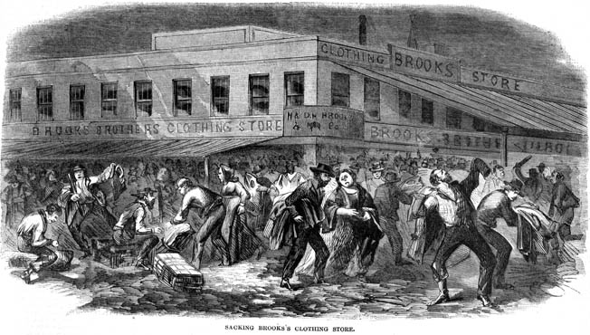 After the Lincoln administration began drafting for the war effort, mobs of New Yorkers savagely attacked police, soldiers, and African Americans.