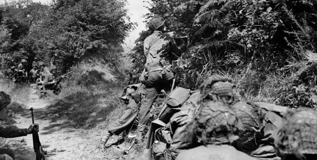 The hedgerow country of Normandy provided excellent defensive ground for the Germans, and the Allied advance from the D-Day beachhead was costly.