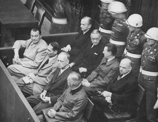 Reich Marshal Hermann Göring was by far the most colorful and outspoken defendant during the Nuremburg Trials