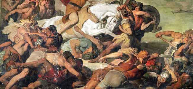 The massacre of three Roman legions by Germans in the Tetoburg Forest in AD 9 ensured that the Romans would not control the lands east of the Rhine.