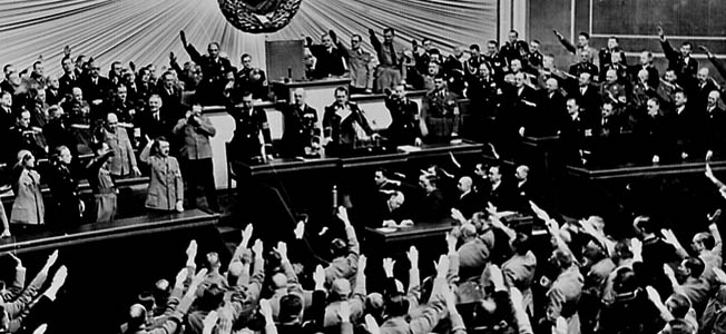 Adolf Hitler rose from obscurity to lead the Nazi Party to power in Germany and embarked on a campaign of conquest and destruction.