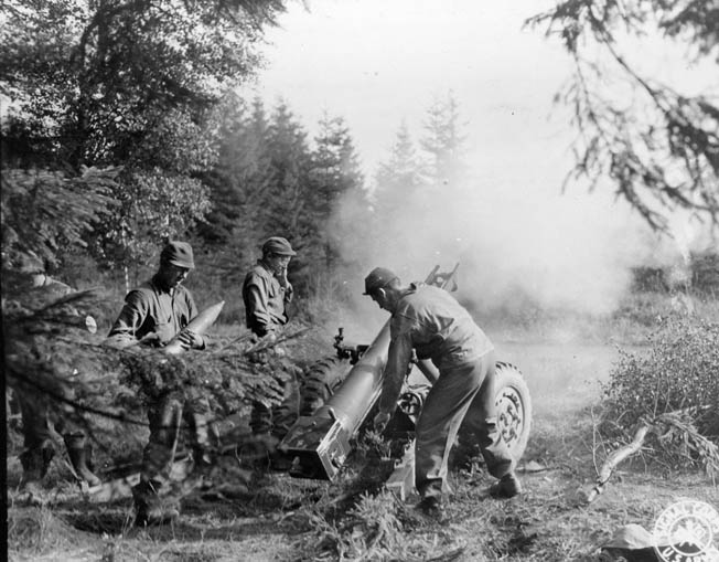 Soldiers of the U.S. 28th Infantry Division, nicknamed the Bucket of Blood.
