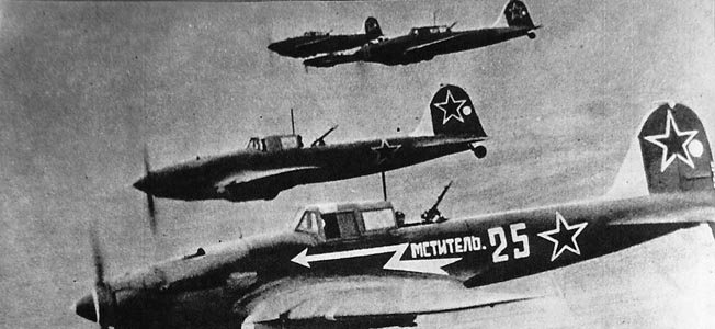 "The Soviet Air Force's Ilyushin Il-2 ""Shturmovik"" took a heavy toll in German armor on the Eastern Front."