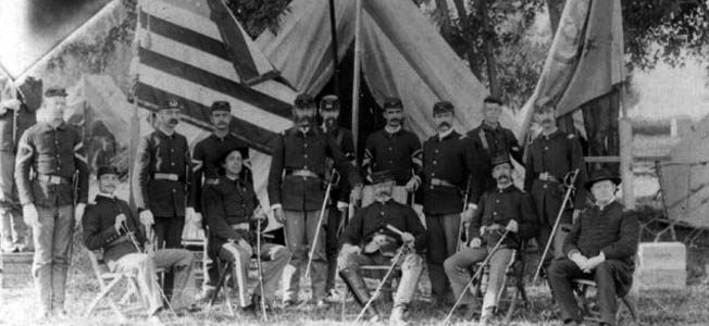When the American Civil War reached Iowa, their soldiers were given flintlock muskets and rusty bayonets. Some weren't given weapons at all.