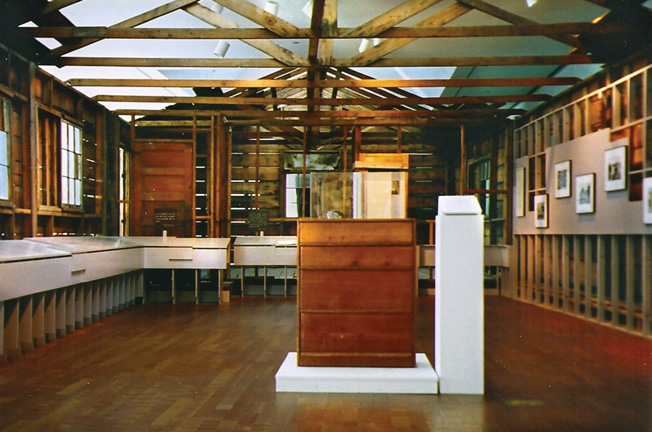 A reconstructed barracks from the Heart Mountain internment camp in Wyoming.