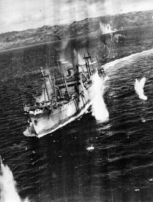 Several examples illustrate the major losses suffered by Japanese transport vessels.