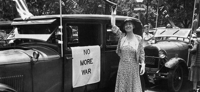 Congresswoman Jeannette Rankin cast the only vote against declaring war on Japan the day after the Pearl Harbor Attack.