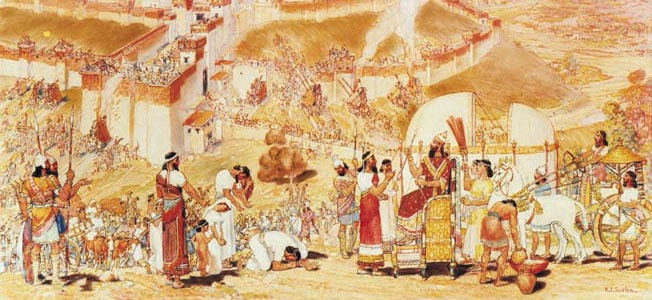 Judaean King Hezekiah and Jerusalem endured a speculated second siege led by Assyrian king Sennacherib.