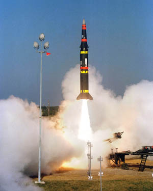 The US Army launches a Pershing II battlefield support missile on a long-range flight down the Eastern Test Range at 10:06 a.m. EST. This is the forth test flight in the Pershing II engineering and development program and the third flight from Cape Canaveral.