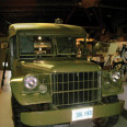 A postwar, late 1940s Dodge field ambulance on display at the Canadian Military Heritage Museum.