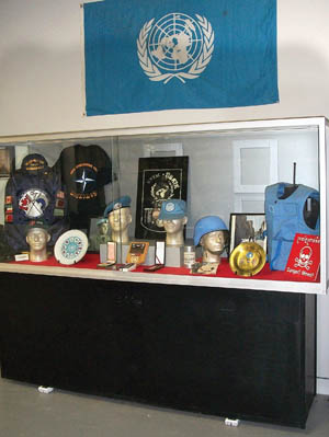 UN and NATO memorabilia. Canadian Prime Minister Lester Pearson originated the idea of UN peacekeeping during the Suez Crisis in the mid-1950s, and Canada has sent troops to every peacekeeping mission since.