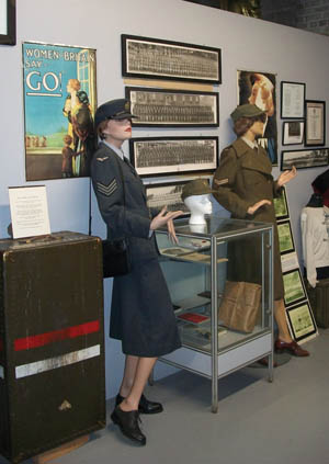 This display honors the contribution of Canadian women in uniform over the generations.