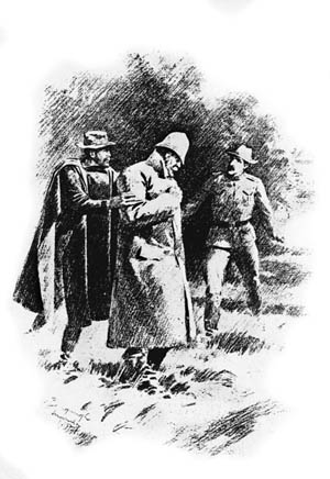 This newspaper illustration shows Lawton as he was fatally shot while coming to the aid of a wounded officer.