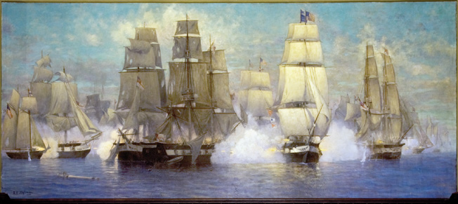 The surprising American naval victory at Lake Erie on September 10, 1813, secured U.S. dominance of the region and forced British commander Henry Proctor to begin withdrawing his forces in the Old Northwest.
