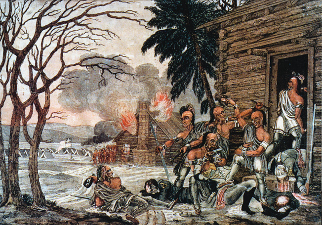 Britain's always troublesome Indian allies massacred wounded American prisoners after the Battles of Frenchtown and Fort Meigs, leading to widespread outrage in the American press.