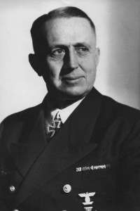 THEODOR KRANCKE (1897-1973). German naval officer. Photograph, c1945.