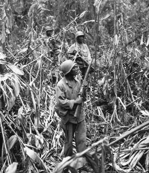 Black soldiers of the 93rd Infantry Division suffered an ordeal during their fight for Hill 250 at the Battle of Bougainville.