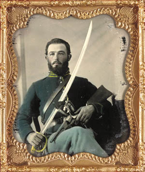 A saber-flourishing Federal trooper in the 10th Kentucky cavalry reflected the steely determination to hold the Bluegrass State in the Union.