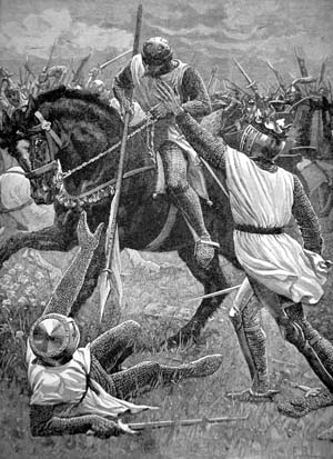 King Henry III rallies loyalists in 1265 in the attempt to wrest power from the English barons and Simon de Montfort.