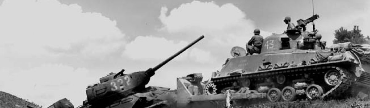 The M-26 Tank vs. the Russian T-34 at Obong-Ni: the 90mm Wins the Day